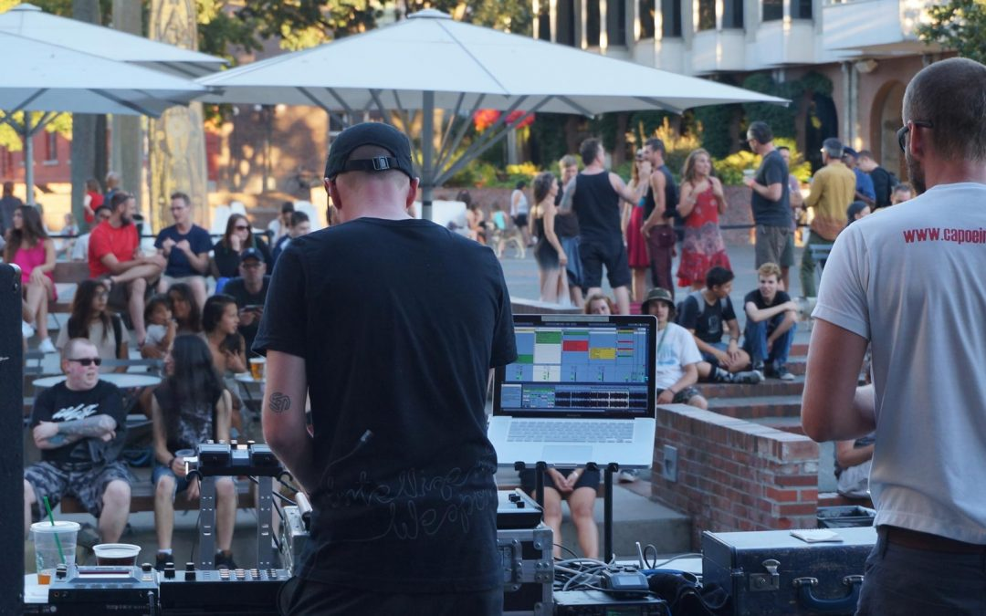 Eventide 2016:  Live Electronic Music Showcase in Victoria BC Centennial Square